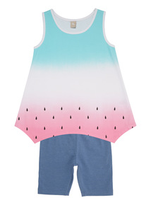 Multicoloured Watermelon Vest And Shorts Set (9 months - 6 years)