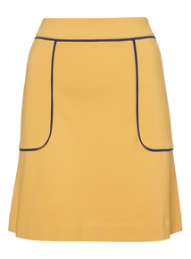 Yellow A-Line Skirt