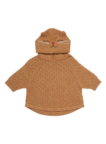 Brown Cat Cape Jumper (9 months-5 years)