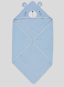Blue Bear Hooded Towel