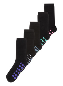 5 Pack Soft Touch Socks