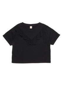 Black Frill Top (3 - 12 years)