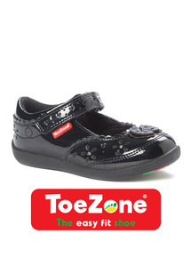 Black Butterfly ToeZone Shoes