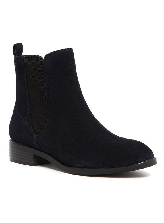 Online Exclusive Navy Sole Comfort Suede Chelsea Boots
