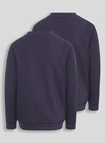 Navy Crew Sweatshirts 2 Pack (2-12 years)