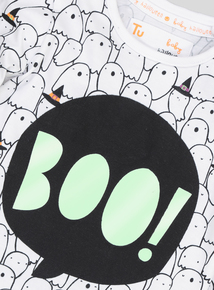 Halloween White Ghost Long Sleeve T-Shirt (0-24 months)