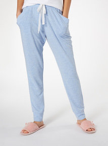 Blue Marl Pattern Harem Pyjama Bottoms