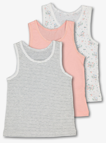 Multicoloured Bunny Vests 3 Pack (1.5 - 10 Years)