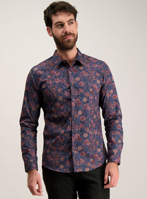 Multicoloured Floral Slim Fit Shirt