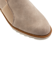 Beige 'Sole Comfort' Leather Wedge Shoe
