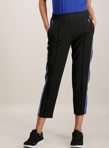 Black Joggers With Blue Stripe