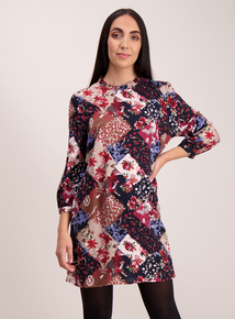 Multicoloured Floral Tunic Top