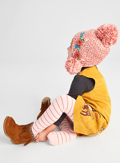 Multicoloured Winter Floral Trapper (3-12 years)
