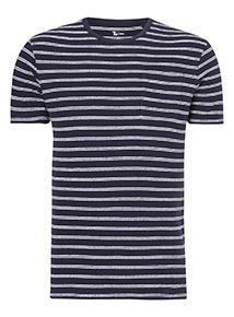Navy Ecru Stripe T-Shirt