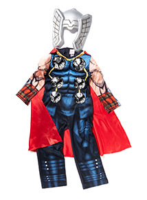 Blue Disney Marvel Avengers Thor Dress Up Costume (3-10 years)