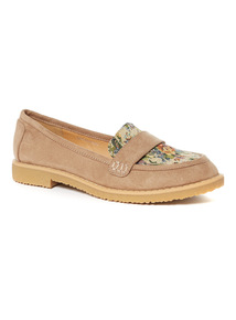 Sole Comfort Floral Jacquard Loafers