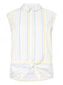 Stripe Tie Front Shirt