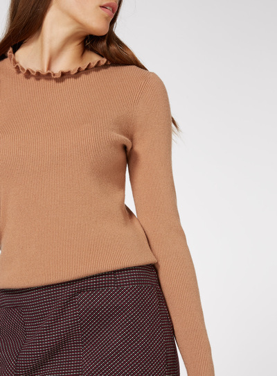 Natural Frill Neck Jumper