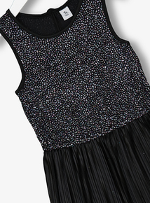 Black Glitter Disco Jumpsuit (3-14 years)