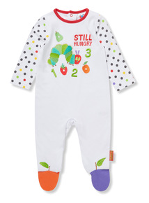 White 'The Very Hungry Caterpillar' Sleepsuit (Newborn-18 months)