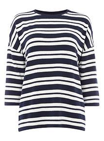 Nautical Stripe Navy Knit