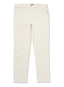 Cream Slim Fit Jeans