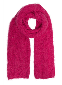 Cerise Pink Faux Shearling Scarf