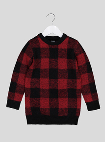 Multicoloured Check Jumper (3-14 Years)