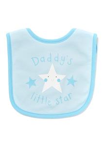 Blue Daddys Little Star Bib