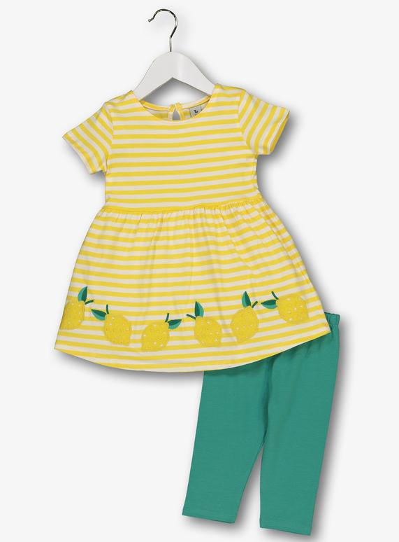 f5e486b4850c Multicoloured Lemon Dress & Leggings Set (9 months - 6 Years). From £8.00