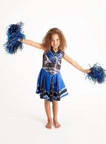 Halloween Blue 'Scream Spirit' Cheerleader Costume Set (3-12 years)