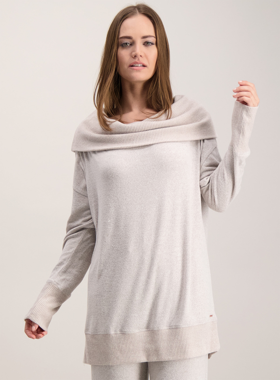e59f9e3c2f Womens Beige Oversized Cowl Neck Jumper