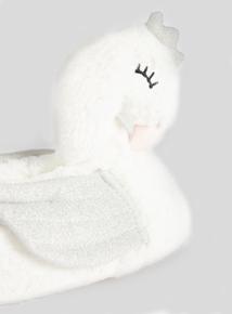 White Swan 3D Slippers (10 infant - 4 child)