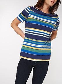 Multicoloured Stripe Top