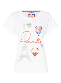 White Paris Tee