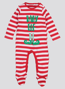 Christmas Multicoloured 'Baby Elf' Sleepsuit (Newborn -24 months)