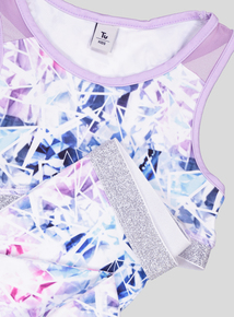 ecb3e80b5f893 Multicoloured Dance Crop Top   Legging 2 Piece Set (3-14 Years)