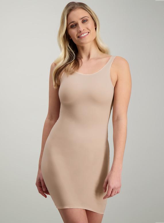 43b510922ecba Womens Online Exclusive Secret Shaping Nude V-Neck Slip Dress Light Control