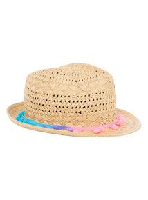 Trilby Pom Pom Hat