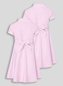 2 Pack Pink Classic Gingham Dresses