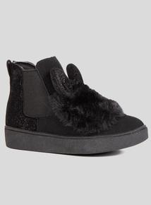 Black Bunny Chelsea Boot (6 Infant- 4 Child)