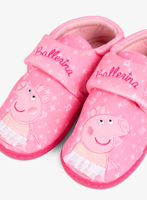Peppa Pig Pink Ballerina Slippers (Infant 4-12)