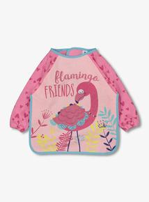 Pink Flamingo Long Sleeve Bib (one size)
