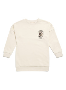 White Surf Crew Neck Sweatshirt