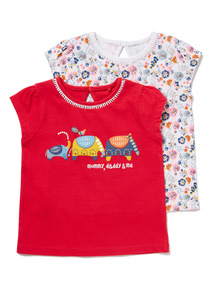2 Pack Pink T-Shirts (0-24 months)
