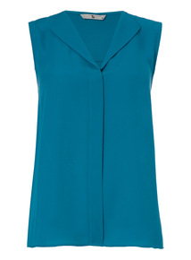 Teal Layering Shell Top
