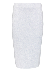 Premium Grey Compact Knit Pencil Skirt