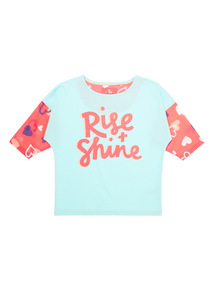 Mix and Match Green Rise and Shine T-shirt (3-12 years)