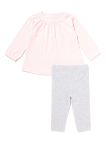 Pink Top and Leggings Set (0-24 months)