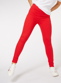 Red Slim Leg Jeggings